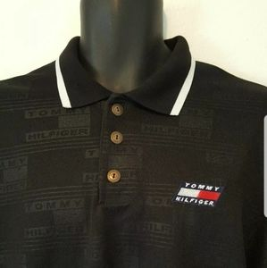 Vintage Tommy Hilfiger Mens Golf Polo XL Spellout